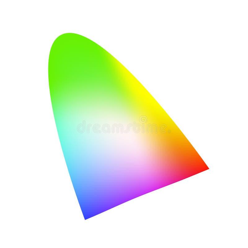 Coloree el tono auxiliar con pendiente de la malla del arco iris y destaque libre illustration