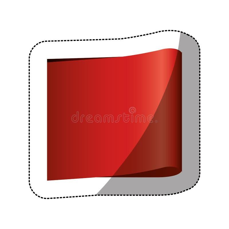 coloree la etiqueta engomada del precio con la sombra media y la forma rectangular stock de ilustración