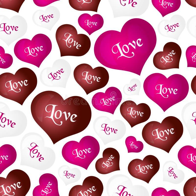 Coloree la forma del corazón de los globos del helio para el amor y el modelo inconsútil eps10 de la tarjeta del día de San Valen libre illustration
