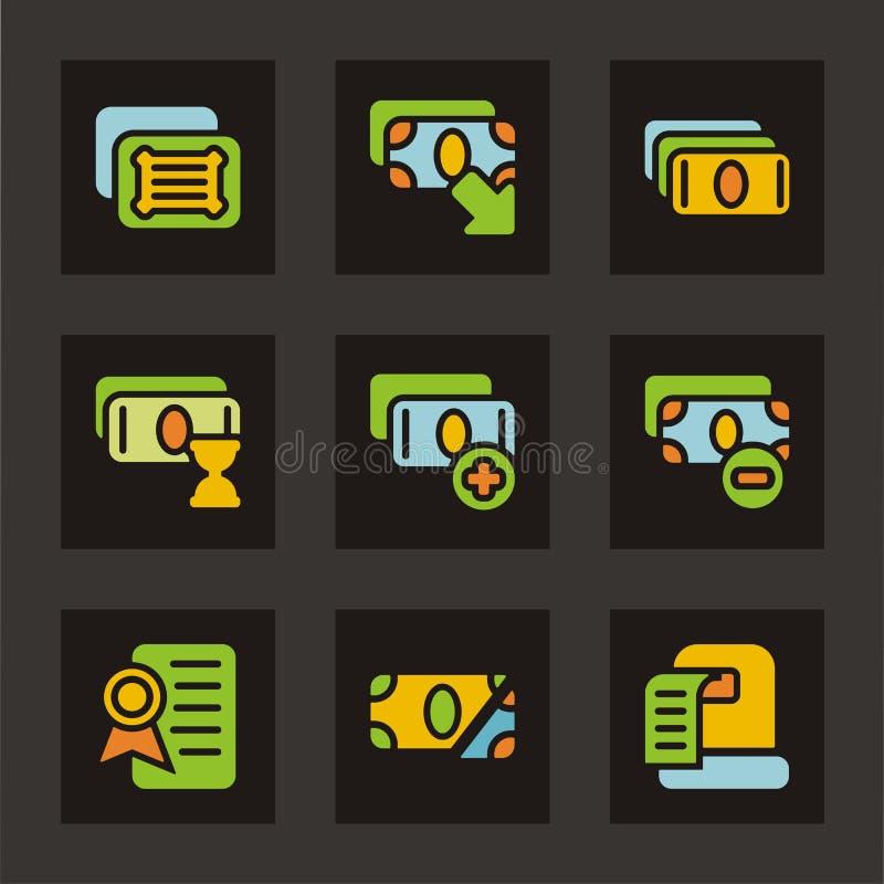 Coloree la serie del icono - dinero libre illustration