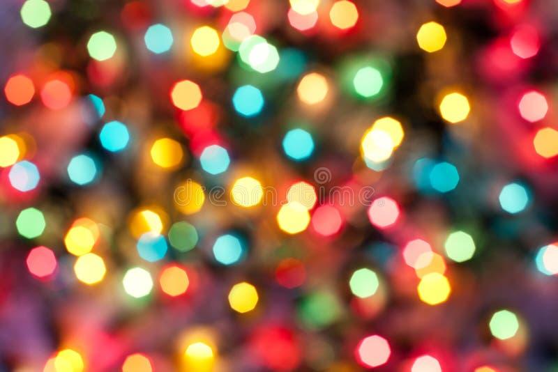 Coloree las luces abstractas de la Navidad fotos de archivo libres de regalías