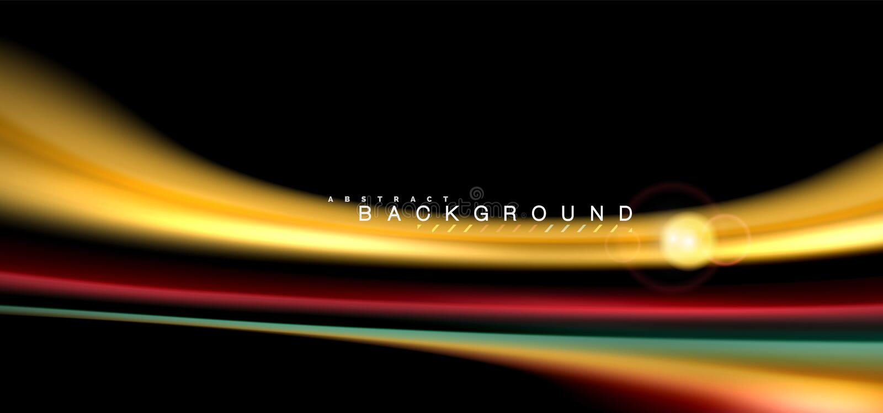 Coloree los efectos luminosos brillantes sobre forma ondulada multicolora del estilo negro, líquido libre illustration