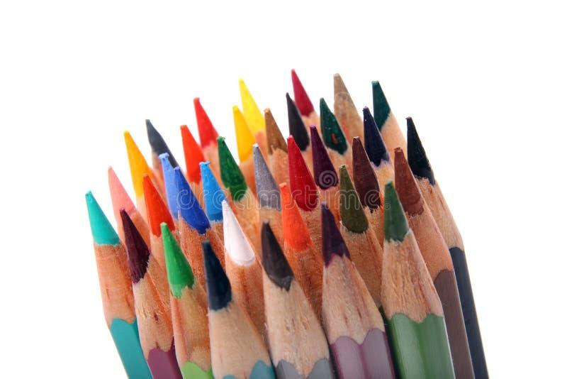 Coloree los lápices imagenes de archivo