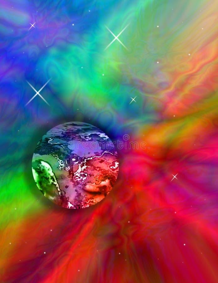 Coloree mi mundo ilustración del vector
