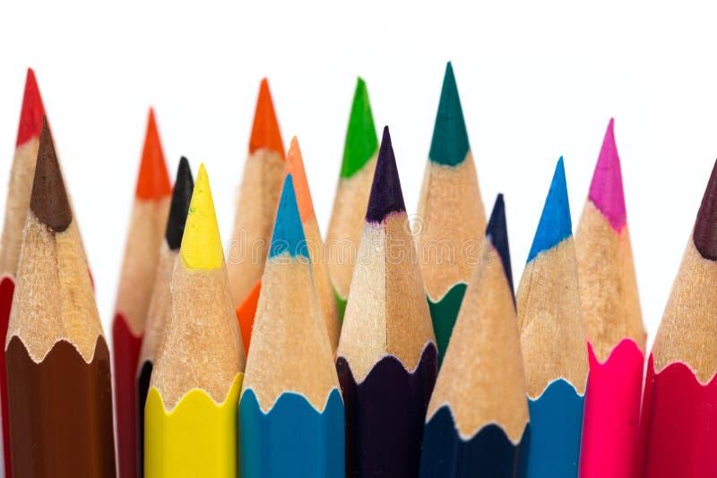 Coloree para afilar los lápices foto de archivo
