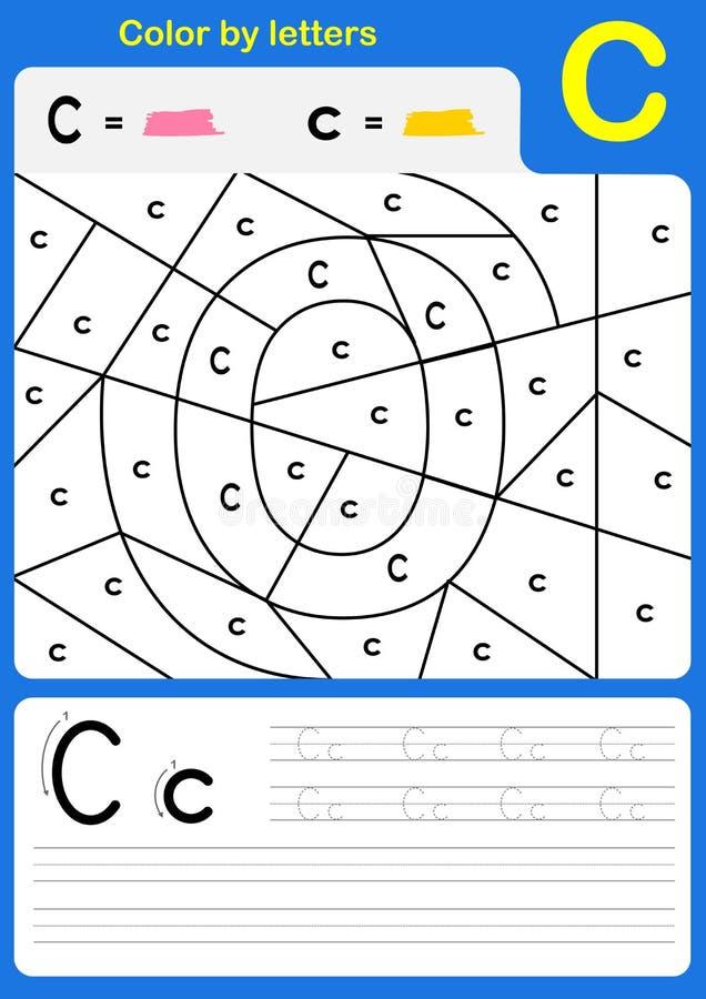 Coloree Por Carta La Hoja De Trabajo Del Alfabeto - Color Y ...
