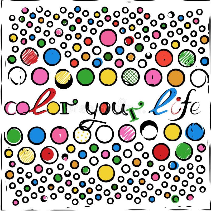 Coloree su vida foto de archivo