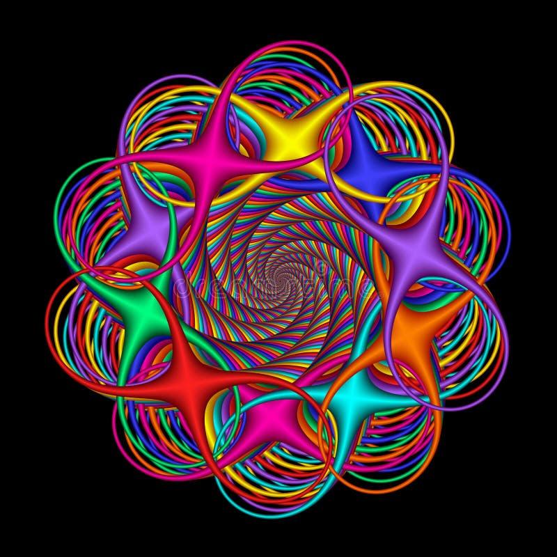 Colores abstractos circulares del arco iris libre illustration
