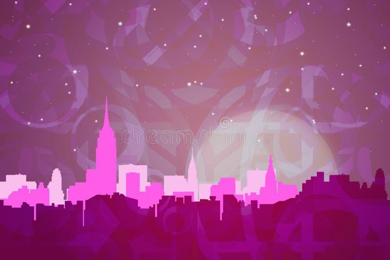 Colores abstractos de Nueva York stock de ilustración
