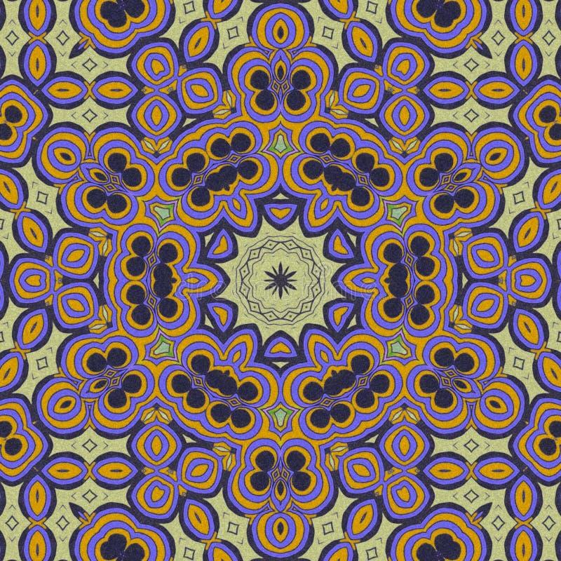 Colores anaranjados claros y violetas drenaje abstracto libre illustration