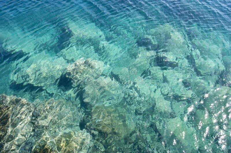 Colores azules brillantes del océano fotografía de archivo libre de regalías