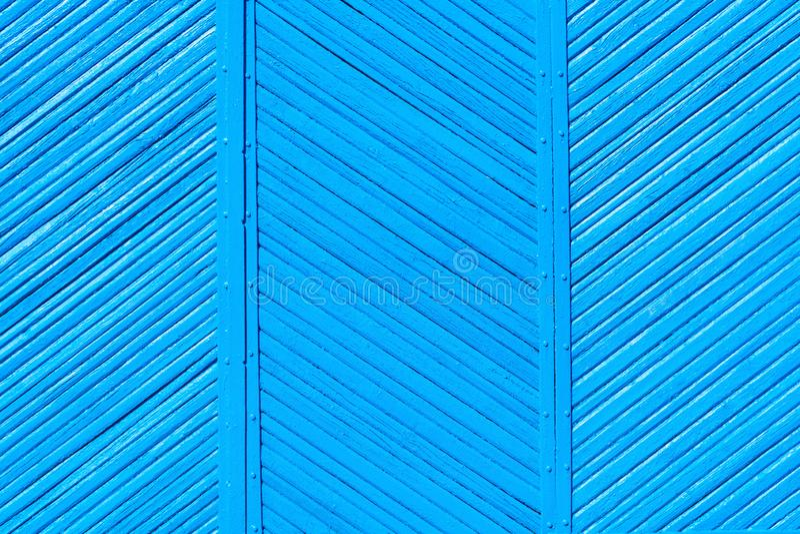 Colores azules de la cerca lamentable de madera vieja, fondo fotos de archivo libres de regalías