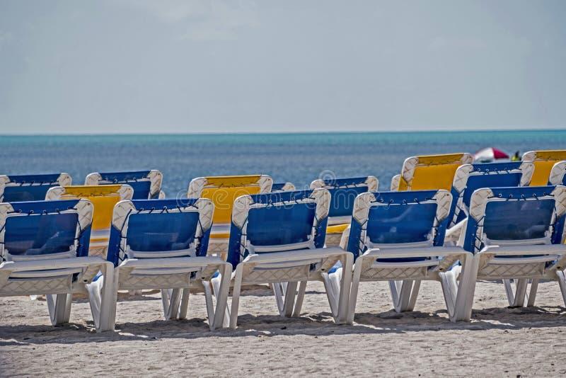 Colores azules y amarillos de Key West foto de archivo