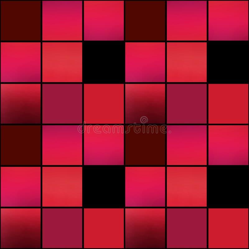 Colores brillantes b de los cuadrados de la textura inconsútil moderna abstracta del modelo stock de ilustración