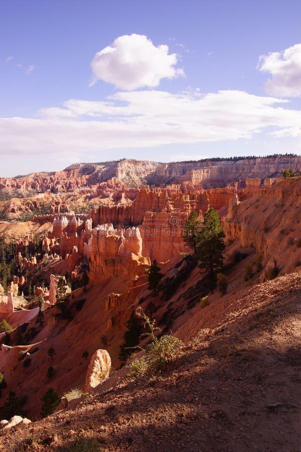 Colores claros de la última hora de la tarde los pináculos de la piedra arenisca en el canyo fotos de archivo libres de regalías