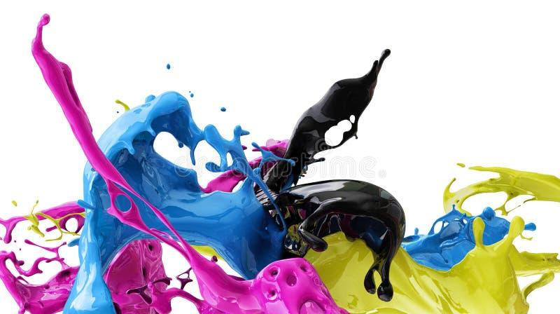 Colores CMYK fotos de archivo libres de regalías