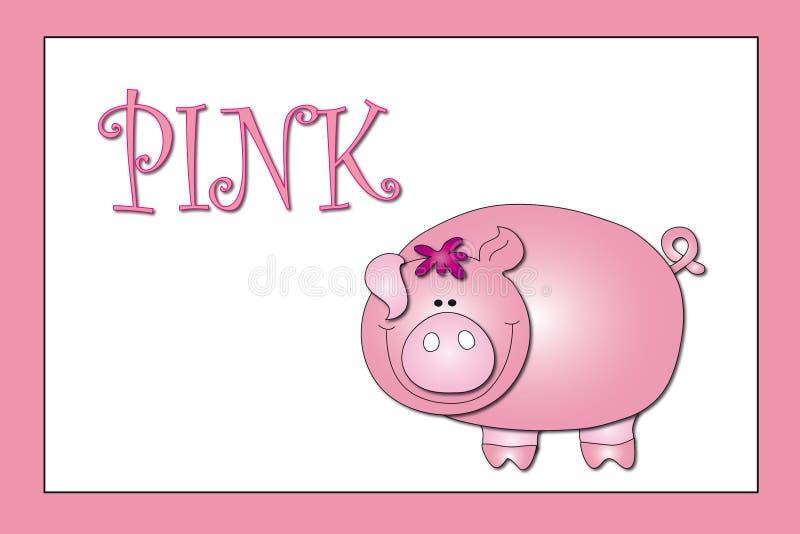 Colores: color de rosa stock de ilustración