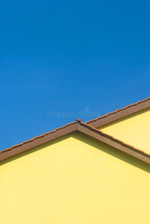 Colores Contrasty de amarillo y del azul imagenes de archivo