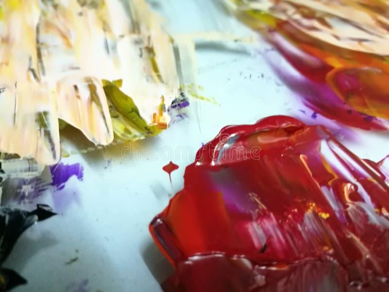 Colores de acrílico foto de archivo