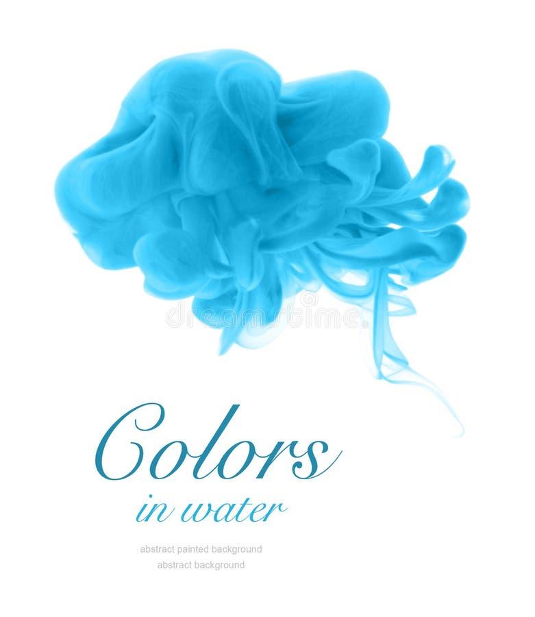 Colores de acrílico en agua fotografía de archivo libre de regalías
