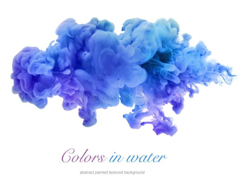 Colores de acrílico en agua abstraiga el fondo imágenes de archivo libres de regalías