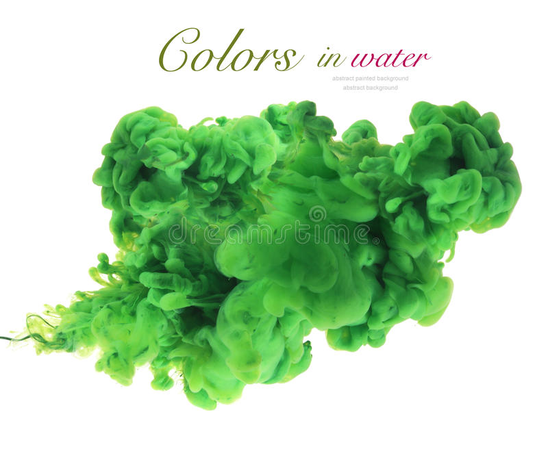 Colores de acrílico y tinta en agua imagen de archivo libre de regalías