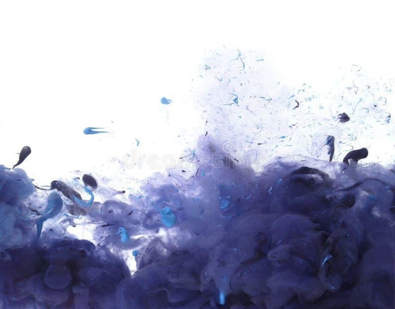 Colores de acrílico y tinta en agua imagen de archivo