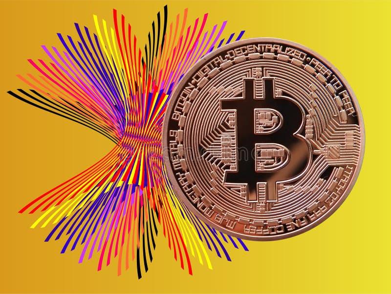 Colores de Bitcoin stock de ilustración