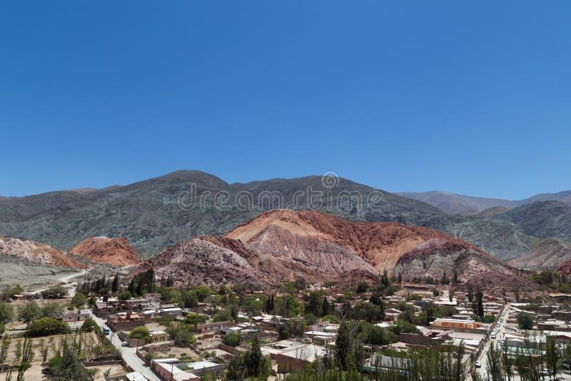 Colores de Cerro de los siete, Purmamarca photographie stock