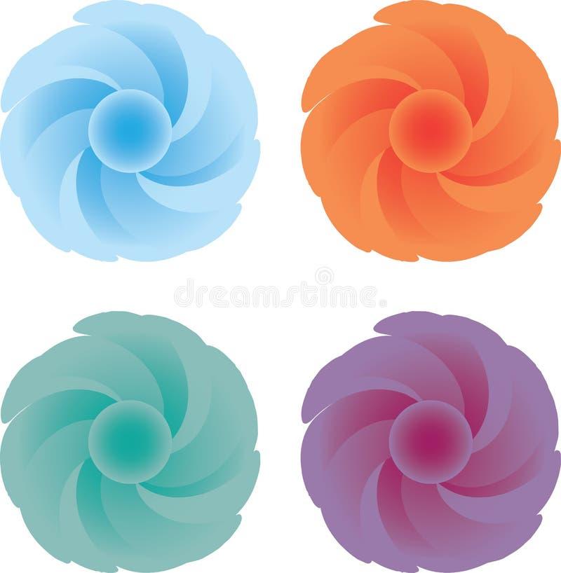 Colores de la caída de la flor stock de ilustración