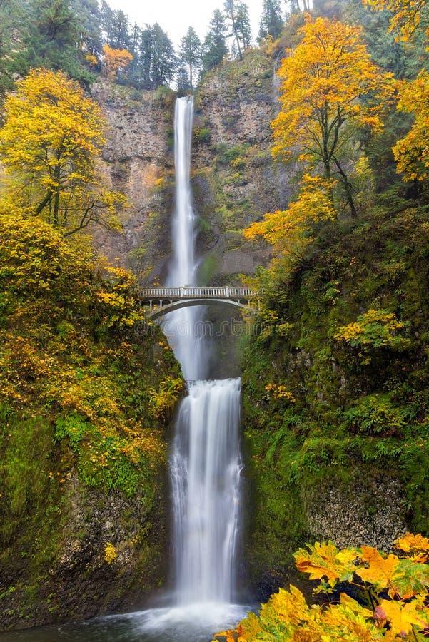 Colores de la caída en las caídas de Multnomah imagenes de archivo