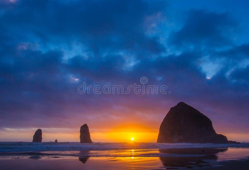 Colores de la costa de Oregon foto de archivo