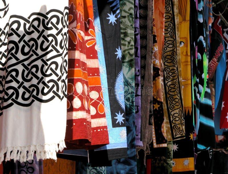 Colores de la materia textil? fotografía de archivo