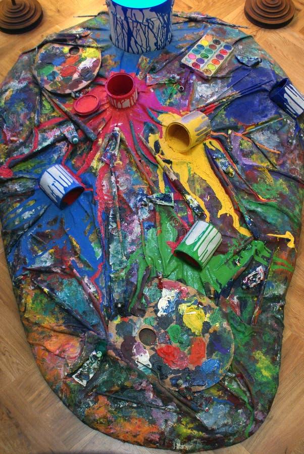 Colores de la pintura imágenes de archivo libres de regalías