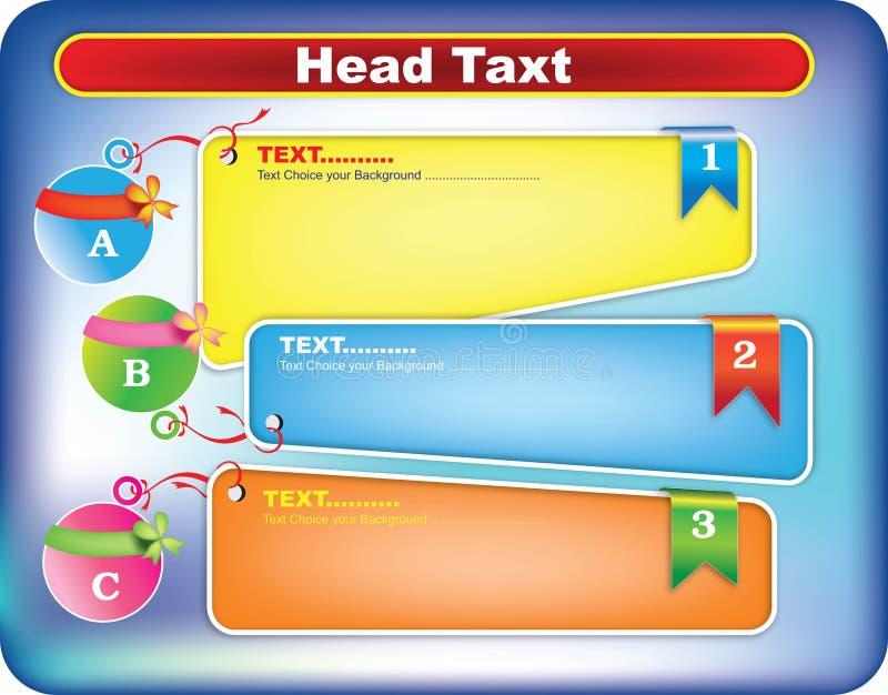 Colores de las plantillas del cuadro de texto stock de ilustración