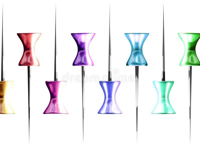 Colores de los contactos stock de ilustración