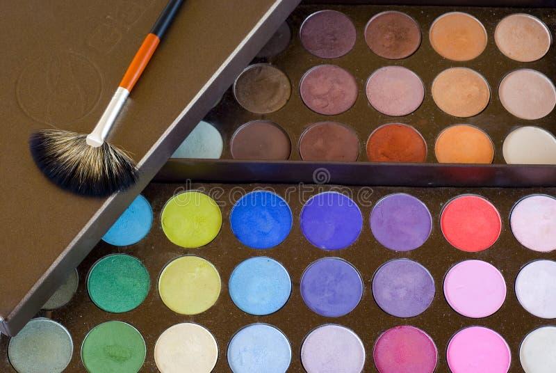 Colores de sombras a los ojos foto de archivo libre de regalías