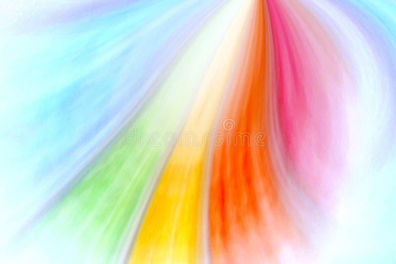 Colores del arco iris que revelan como fan ilustración del vector