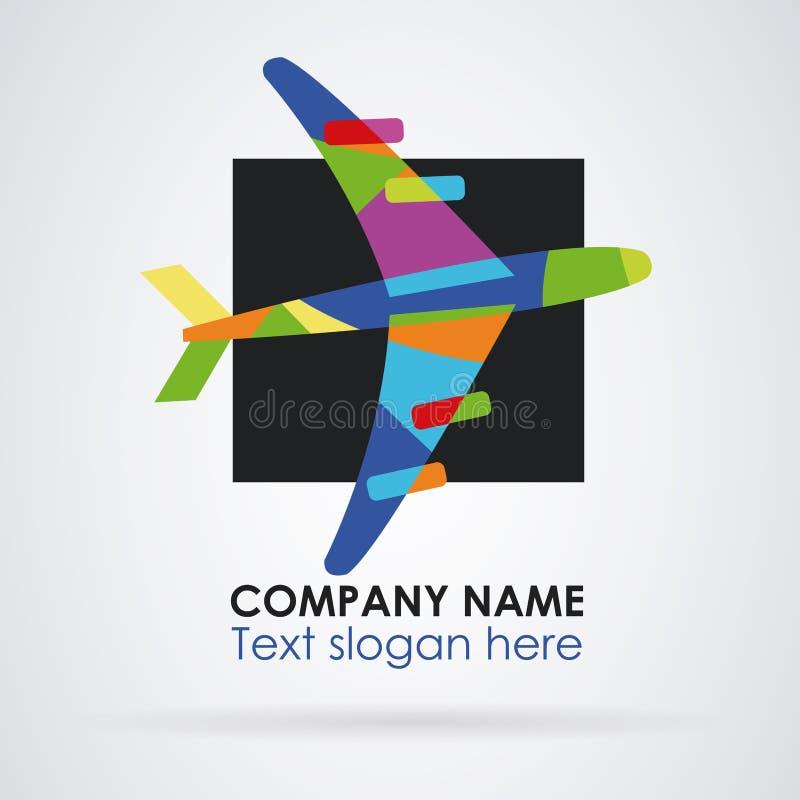 Colores del extracto del viaje del logotipo ilustración del vector