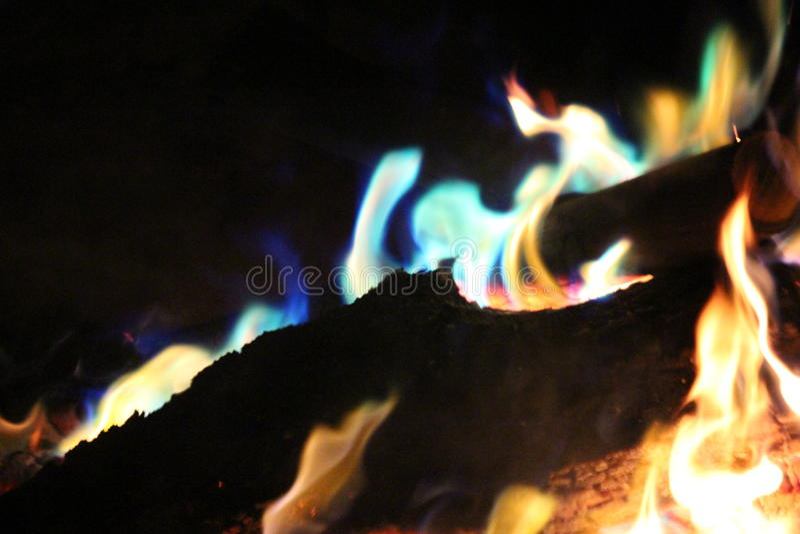 Colores del fuego imagen de archivo libre de regalías
