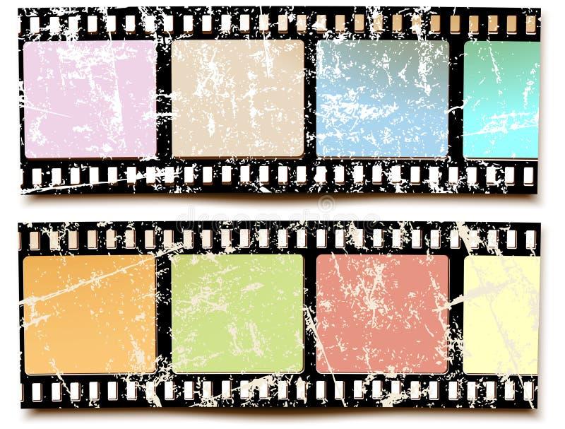 Colores del grunge de la película libre illustration