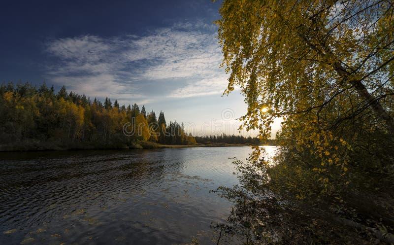 Colores del otoño en el amanecer temprano fotos de archivo libres de regalías