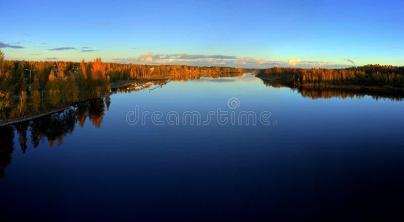 Colores del otoño en Finlandia foto de archivo