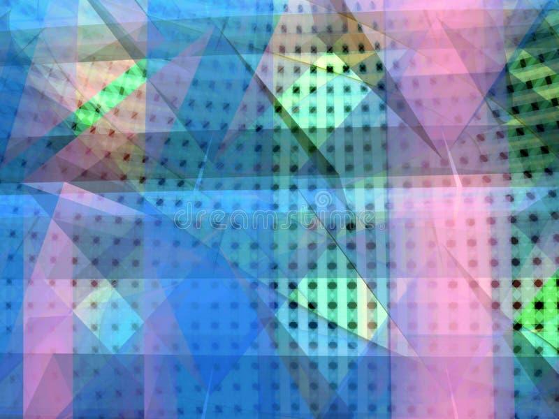 Colores del resplandor del espectro ilustración del vector