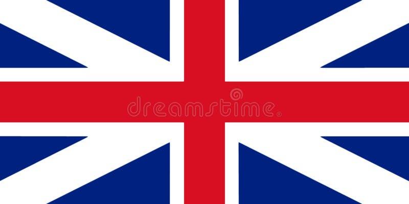 Colores del ` s del rey de la bandera de Gran Bretaña Enfermedad civil y del estado de la bandera 3D libre illustration
