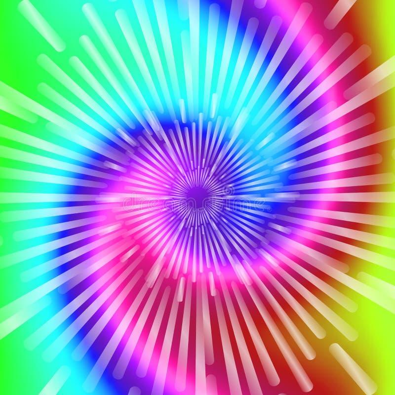 Colores del teñido anudado Ejemplo espiral realista hermoso del vector del teñido anudado libre illustration