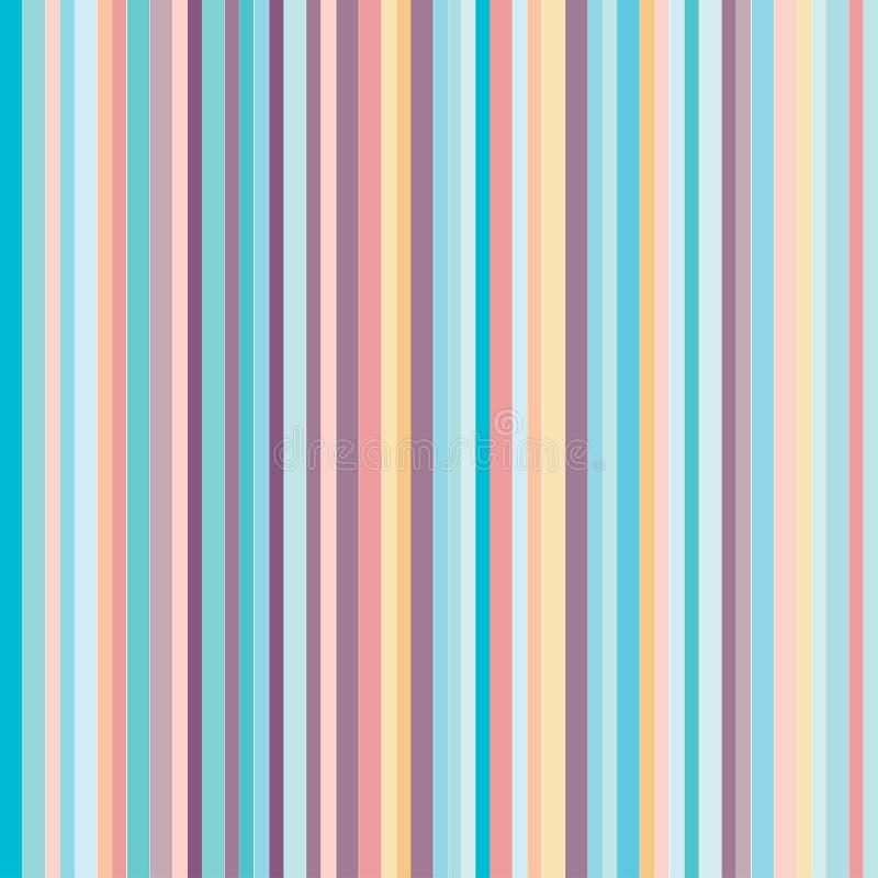 Colores en colores pastel de las rayas verticales stock de ilustración