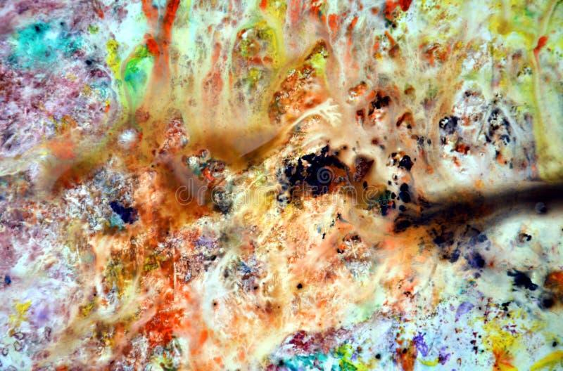 Colores en colores pastel, fondo de acrílico de la acuarela de la pintura en colores pastel brillante, textura colorida fotografía de archivo