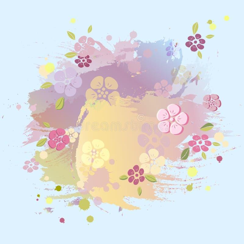 Colores en colores pastel que pintan el fondo de imitación ilustración del vector