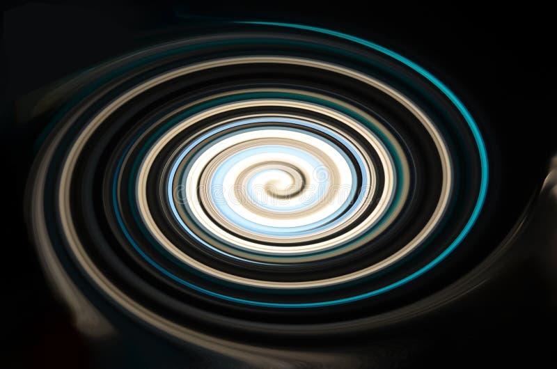 Colores espirales hermosos en fondo negro ilustración del vector